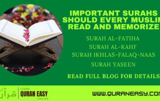 Important surah should read and memorize